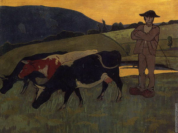 Peasant with Three Cows (Serusier)
