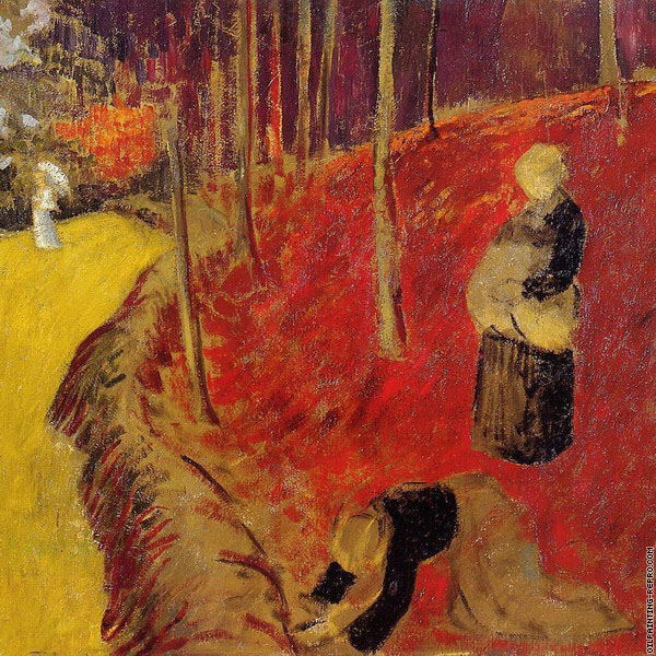 The Fern Harvesters in the Boid-d'Amour at Pont-Aven (Serusier)