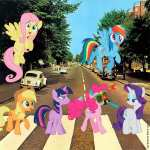 My Little Pony Abbey Road (after The Beatles)