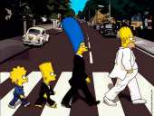 The Simpson Abbey Road (after The Beatles)