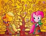 Tree of My Little Pony (after Klimt)