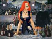 Jessica Rabbit at the Bar of Folies-Bergère (after Manet)