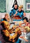 The Thanksgiving of the Fantastic Four (after Rockwell)