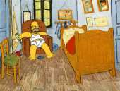 The Bedroom of Homer Simpson in Arles (after Van Gogh)