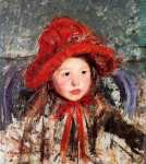 Little Girl in a Large Red Hat (Cassatt)