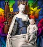 Virgin and Child Surrounded by Angels (Fouquet) - CUSTOMIZABLE