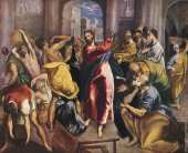 Christ driving the traders from the temple 2 (El Greco)