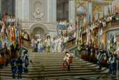 Reception of Le Grand Condé by Louis XIV at Versailles (Gerome)