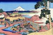 Mount Fuji Seen from the Tea Plantation at Katakura in Suruga Province - 36 Views of Mount Fuji (Hokusai)