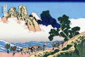 The Back of the Fuji from the Minobu River (Hokusai)