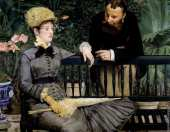 In the conservatory (Manet)
