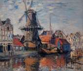 Monet_The Windmill on the Onbekende Canal at Amsterdam (Monet)