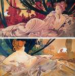 Diptych Dawn and Dusk (Mucha)