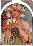 Decorative Panel - The Flower (Mucha)