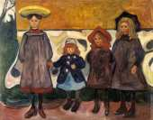Four Girls in Arsgardstrand (Munch)