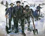 Workers in the Snow (Munch)