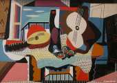 Mandoline and guitar (Picasso)