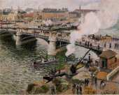 The Boieldieu bridge of Rouen in Damp Weather (Pissarro)