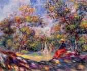 Woman in a Landscape 1 (Renoir)