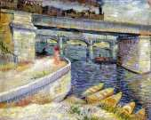 Bridges Across the Seine at Asnieres (Van Gogh)