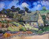 Thatches Cordeville in Auvers-sur-Oise (Van Gogh)