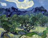 Olive Trees with the Alpilles in the Background (Van Gogh)