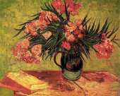 Vase with Oleanders and Books (Van Gogh)