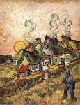 Thatched Cottages in the Sunshine (Van Gogh)